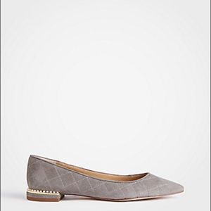 Brand New!! Ann Taylor Grey Suede Pointed Flats